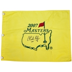 Charles Coody Signed 2007 Masters Embroidered Flag with 1971 Notation JSA ALOA