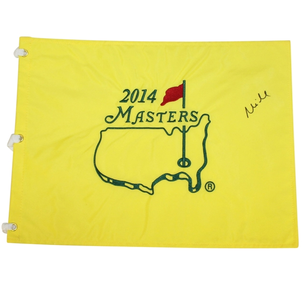 Mike Weir Signed 2014 Masters Embroidered Flag JSA ALOA