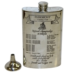 Oakmont Country Club Sheffield England Pewter Flask with Funnel & Original Box