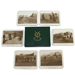 St. Andrews Links 1896 Golf Photo Coasters - Set of 6 with Box