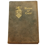 1916 Country Club of Detroit Rules of Golf Booklet #865 Issued to Mr. D. Lucking