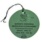 1935 Augusta National Invitation Tournament Sunday Final Round Ticket #153- Top Condition