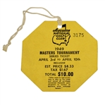 1949 Masters Tournament SERIES Ticket #3175 - April 3rd-10th