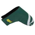 Masters Undated Green & White Leather Putter Cover