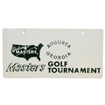 Vintage Masters Golf Tournament Metal License Plate