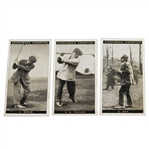 James Braid, Ted Ray, & J.H. Taylor Famous Golfers Churchmans Cigarettes - Series of 50