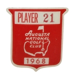 1968 Masters Champion Bob Goalbys Tournament Contestant Badge #21 - Significant Opportunity!