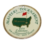 Bob Goalbys 1975 Masters Tournament Contestant Bag Tag - Jack Nicklaus Winner