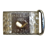 Bob Goalbys 1963 Ryder Cup Matches at East Lake United States Team Member Sterling Belt Buckle