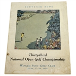 1929 US Open Championship @ Winged Foot Program - Bobby Jones Win - Few Survive Today!