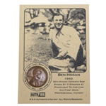 Ben Hogan 1940 Defeats Sam Snead to Capture First Victory Lincoln Wheat Penny Card