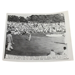 1949 Sam Snead Putting on 18th Green at Augusta National Wire Photo