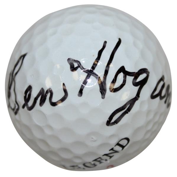 Lot Detail - Ben Hogan Signed Legend Logo Golf Ball FULL JSA #Z69850