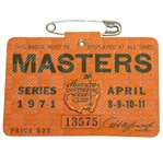 1971 Masters Tournament Series Badge #13575 - Charles Coody Winner