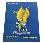 1945 PGA Championship at Morraine CC Program - Byron Nelson Winner - Part of 11 in a Row!