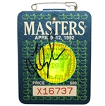 Fred Couples Signed 1992 Masters SERIES Badge #X16737 JSA ALOA