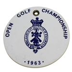 1963 OPEN Championship at Royal Lytham & St. Annes Golf Club Bag Tag - DL Melville