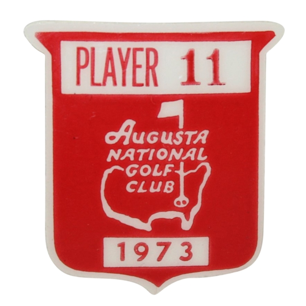 Deane Beman's 1973 Masters Tournament Contestant Badge #11 - Tommy Aaron Winner