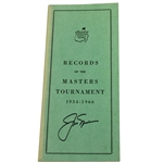 Jack Nicklaus Signed 1934-1966 Records of the Masters Book JSA #Q86879