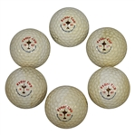 Six 1987 Ryder Cup at Muirfield Village Golf Club Logo Golf Balls