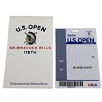 2018 US Open Championship at Shinnecock Hills Player Guest Badge & Yardage Book