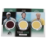 Tiger Woods, Arnold Palmer, & Jack Nicklaus Tour Gear Game Used Golf Card - Shirts