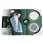 Tiger Woods SP Tour Gear Game Used Golf Card - Two Shirts