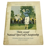 1928 US Open Championship at Olympic Fields CC Program - Johnny Farrell Winner