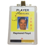 Ray Floyds Masters Tournament Player Identification Badge - 2002