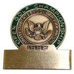 Ray Floyds 1992 US Open Championship at Pebble Beach Contestant Badge