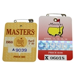 1988 & 1996 Masters Tournament Badges from Ray Floyd Collection