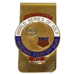 Ray Floyds 1976 World Series of Golf at Firestone CC Contestant Money Clip/Badge