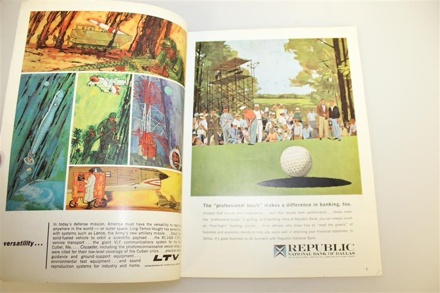 Jack Nicklaus Signed 1963 PGA Championship at DAC Country Club Program JSA ALOA