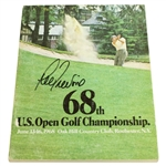 Lee Trevino Signed 1968 US Open Championship at Oak Hill CC Program JSA ALOA