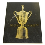 Orville Moody Signed 1969 US Open Championship at Champions GC Program JSA ALOA