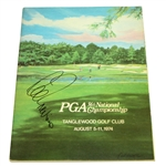 Lee Trevino Signed 1974 PGA Championship at Tanglewood GC Program JSA ALOA