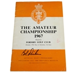 Bob Dickson Signed 1967 British Amateur at Formby Golf Club Program JSA ALOA