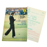 Sandy Lyle Signed 1985 OPEN Championship Program with Pairing Sheet JSA ALOA
