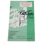 Nick Faldo Signed 1989 Masters Tournament Spectator Guide JSA ALOA