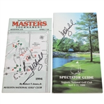 Jose Maria Olazabal Signed 1994 & 1999 Masters Tournament Spectator Guides JSA ALOA