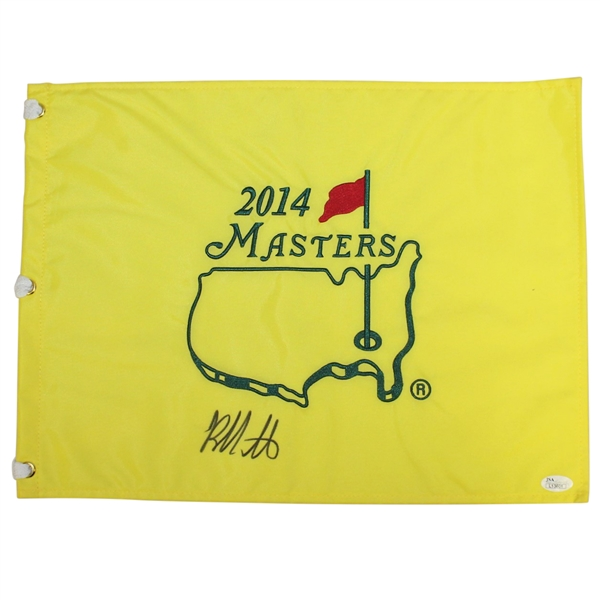 Bubba Watson Signed 2014 Masters Embroidered Flag JSA #L13601