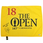 Francesco Molinari Signed 2018 OPEN at Carnoustie Flag with First Italian Champ Beckett #E62876