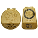 Fuzzy Zoeller (2001) & Mike Weir (2002) Bob Hope Chrysler Classic Contestant Badges