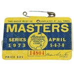 1973 Masters Tournament Badge #14804 - Tommy Aaron Winner