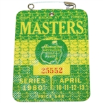 1980 Masters Tournament Badge #25552 - Seve Ballesteros Winner