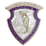 Vintage Trans-Mississippi Golf Association Womens Contestant Shield Badge