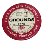 1965 US Open Championship at Bellerive Country Club Grounds Badge #1228