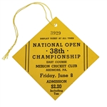 1934 US Open Championship at Merion Friday Ticket #3929 - Best Known Condition