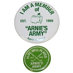 2017 Masters Arnies Army Pin & Life Well Played Arnies Army Est. 1959 Pin