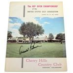 Arnold Palmer Signed 1960 US Open at Cherry Hills CC Official Program JSA ALOA